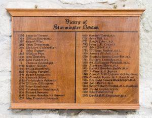Sturminster Newton St Mary's Church Vicars